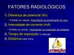 fatores radiol gicos