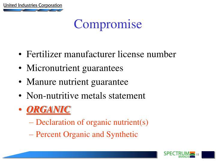 Fertilizer manufacturer license number