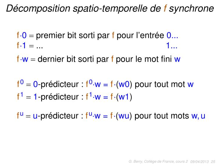 Décomposition spatio-temporelle de