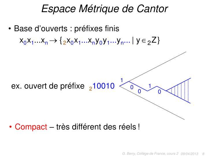Espace Métrique de