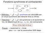 fonctions synchrones et contractantes