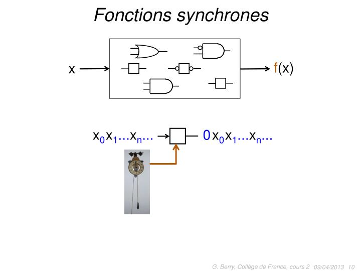 Fonctions synchrones