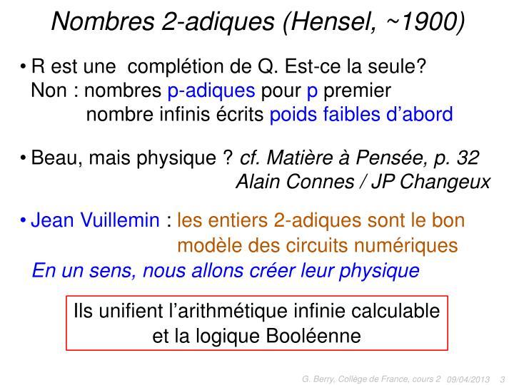 Nombres 2-adiques (