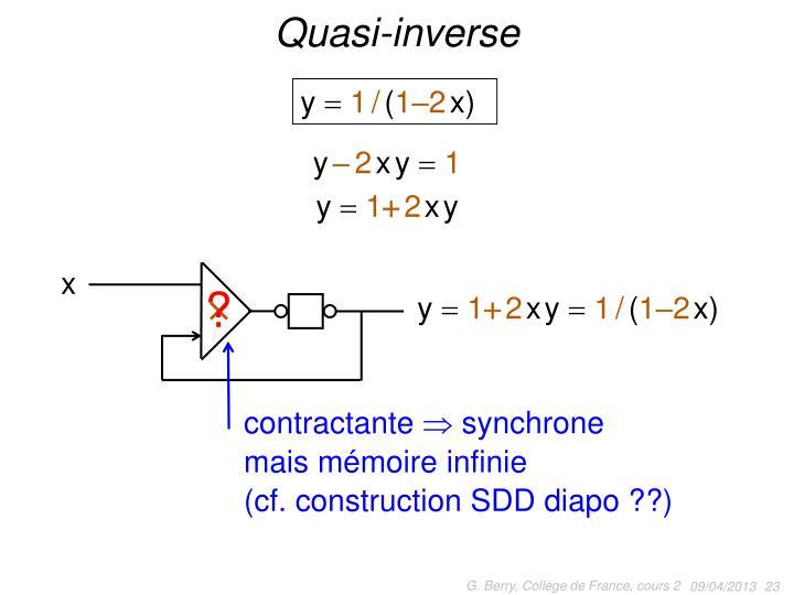Quasi-inverse