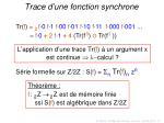 trace d une fonction synchrone