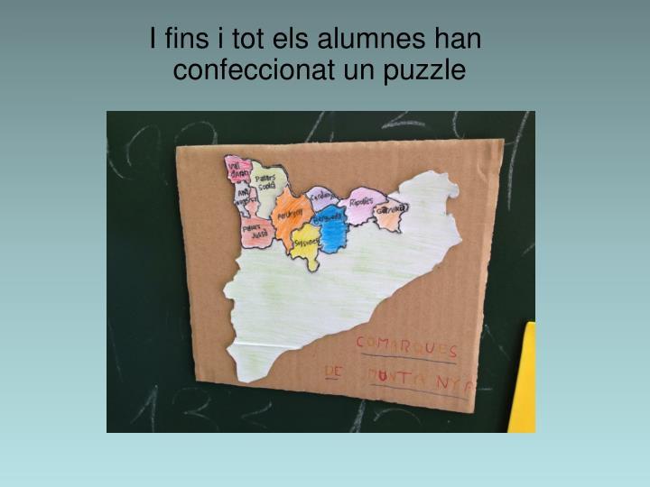 I fins i tot els alumnes han confeccionat un puzzle