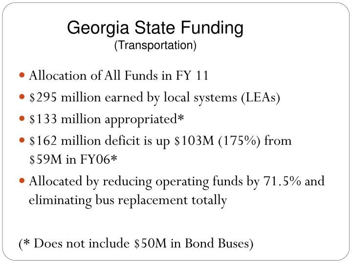 Georgia State Funding