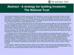 abstract a strategy for tackling invasives the national trust