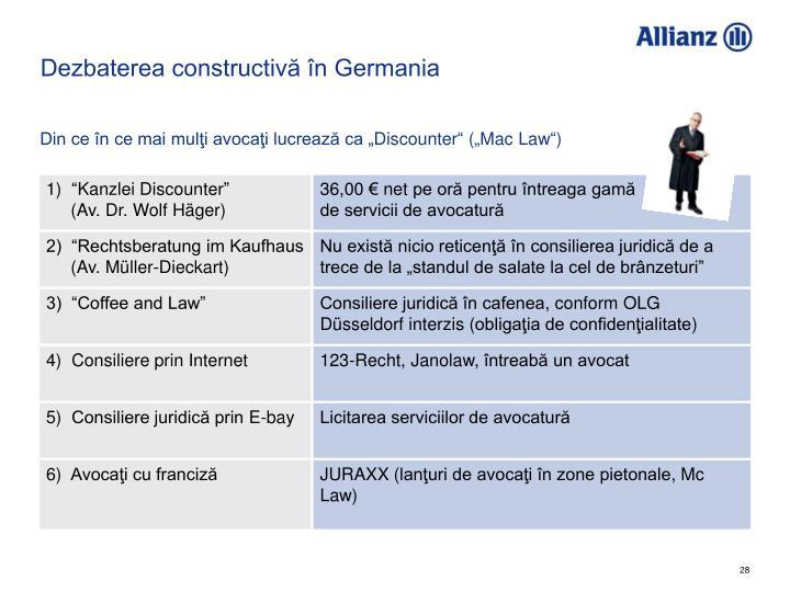 Dezbaterea constructivă în Germania