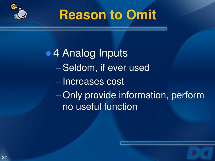 Reason to Omit