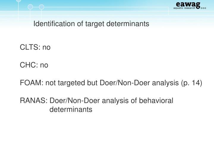 Identification of target determinants