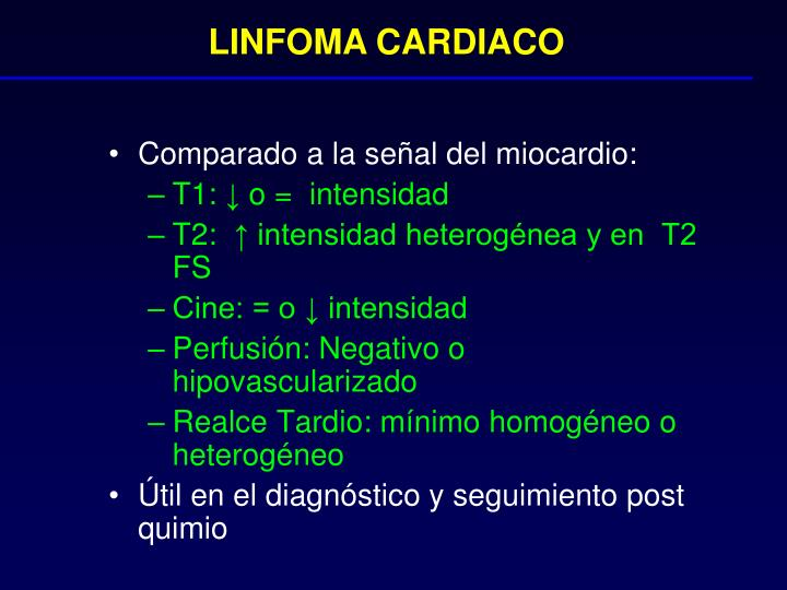 LINFOMA CARDIACO
