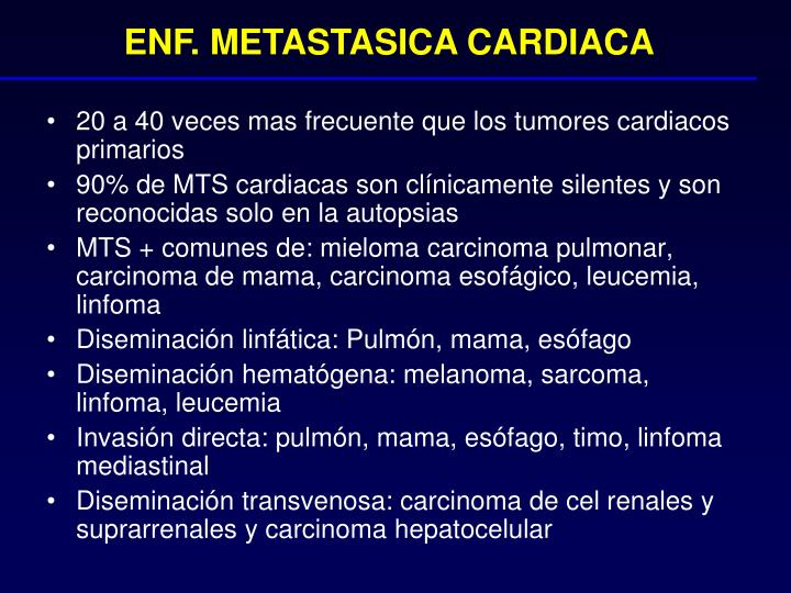 ENF. METASTASICA CARDIACA