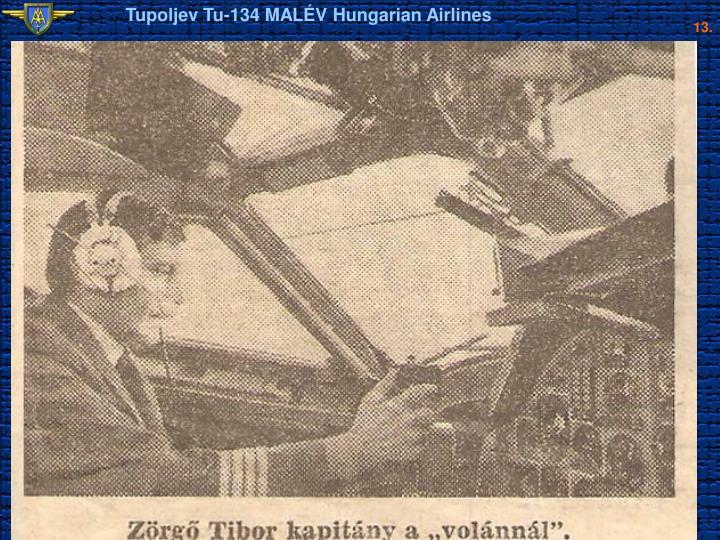 Tupoljev Tu-134 MALÉV Hungarian Airlines