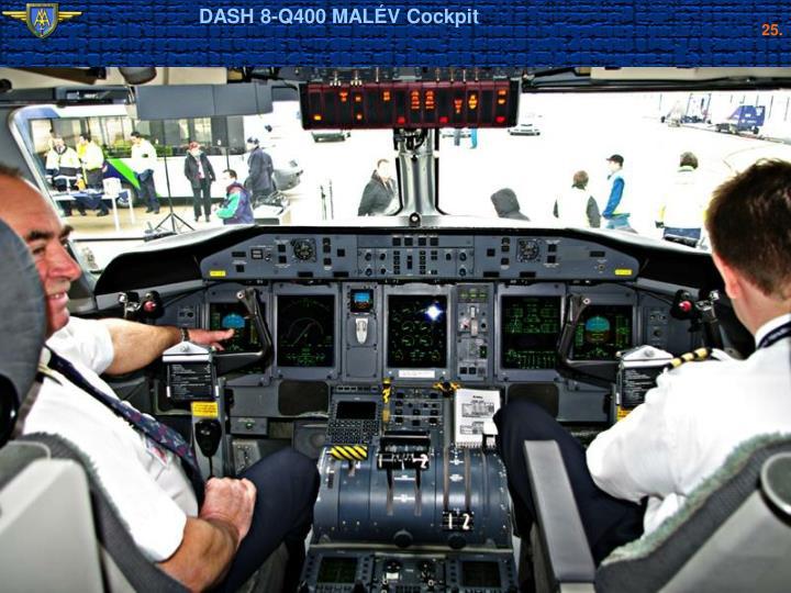 DASH 8-Q400 MALÉV Cockpit