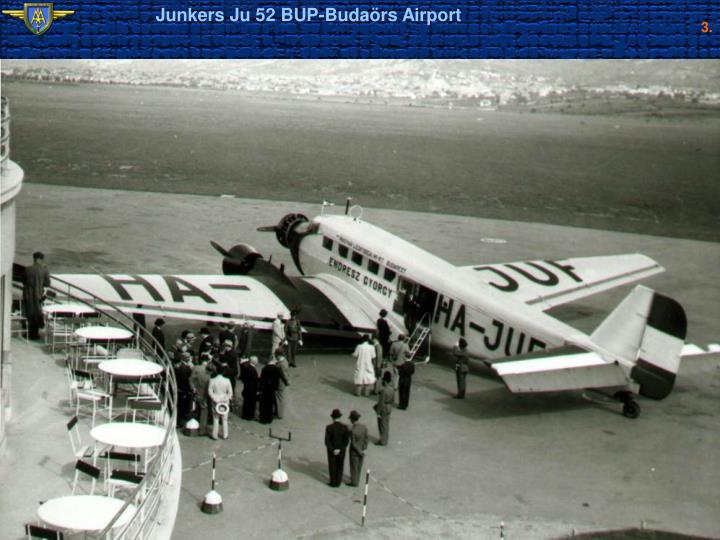 Junkers Ju 52 BUP-Budaörs Airport