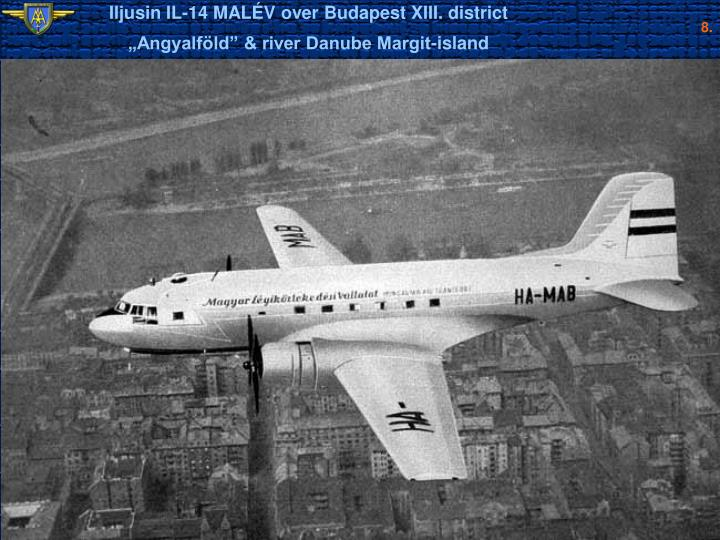 Iljusin IL-14 MALÉV over Budapest XIII. district