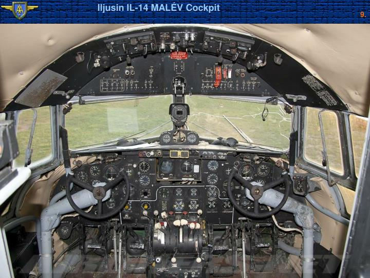 Iljusin IL-14 MALÉV Cockpit