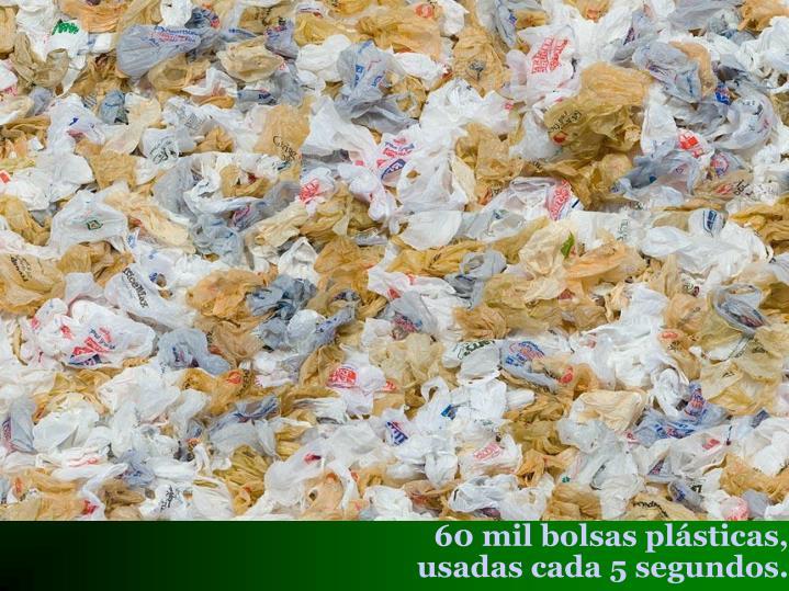 60 mil bolsas plásticas,