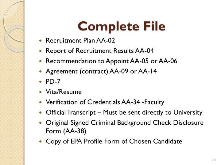 Complete File