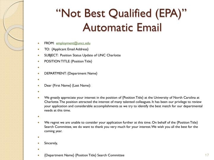 """Not Best Qualified (EPA)"""
