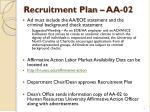 recruitment plan aa 021