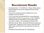 recruitment results