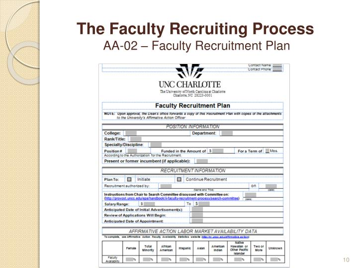 The Faculty Recruiting Process