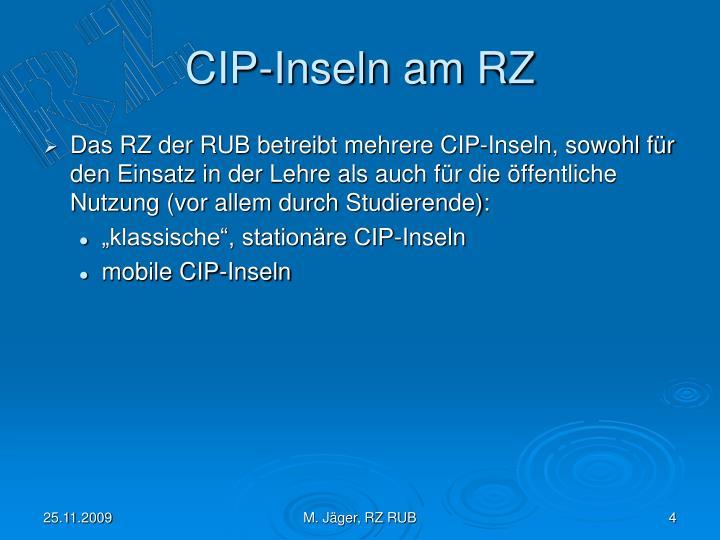 CIP-Inseln am RZ