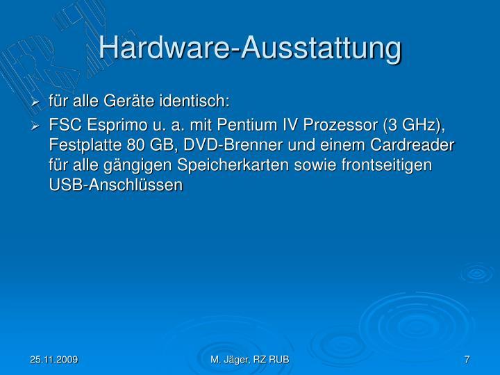 Hardware-Ausstattung