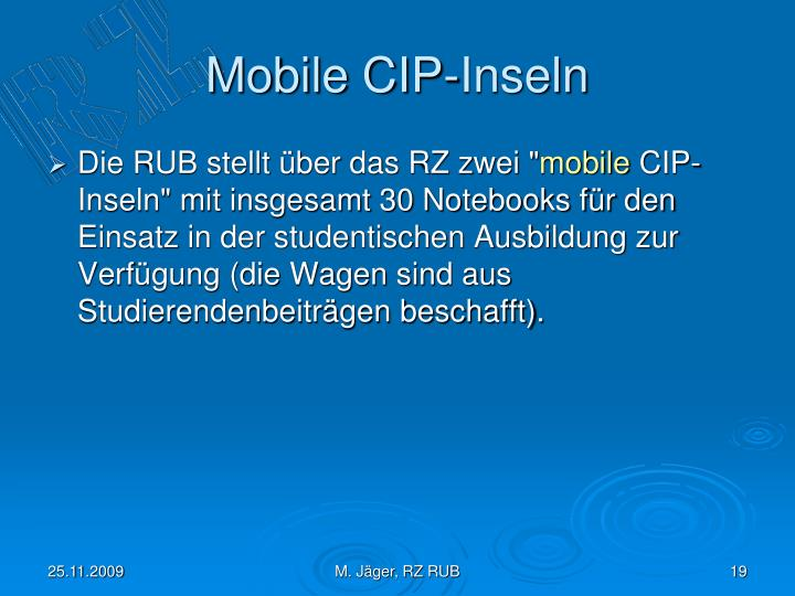 Mobile CIP-Inseln