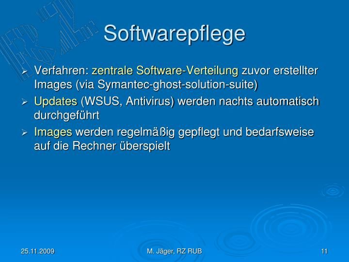Softwarepflege