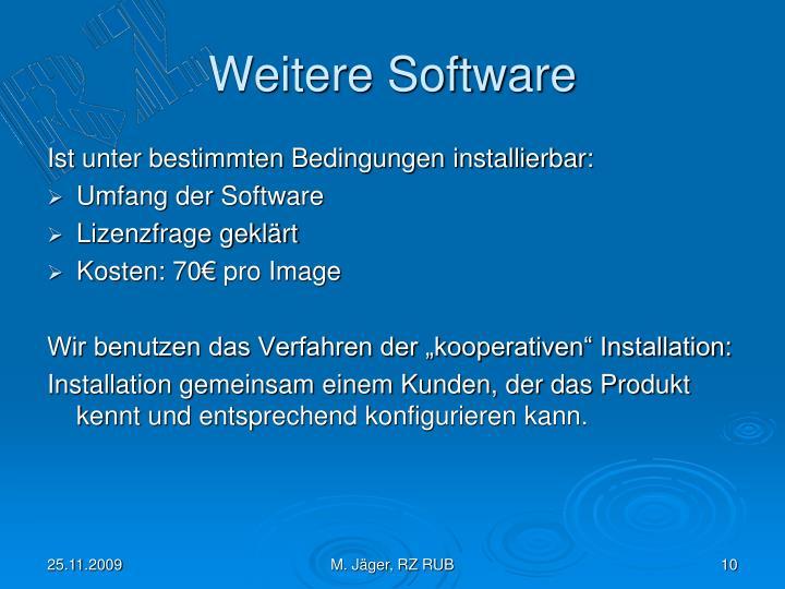 Weitere Software