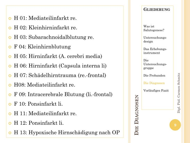 H 01: Mediateilinfarkt re.
