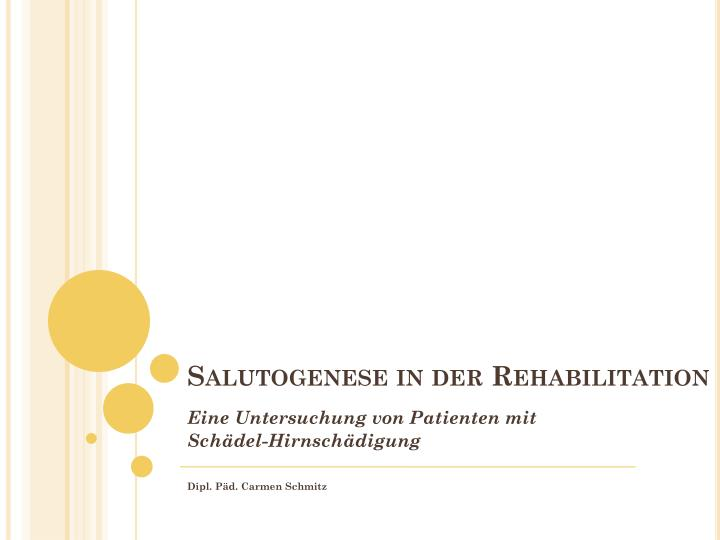 Salutogenese in der rehabilitation