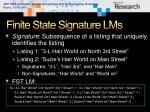 finite state signature lms