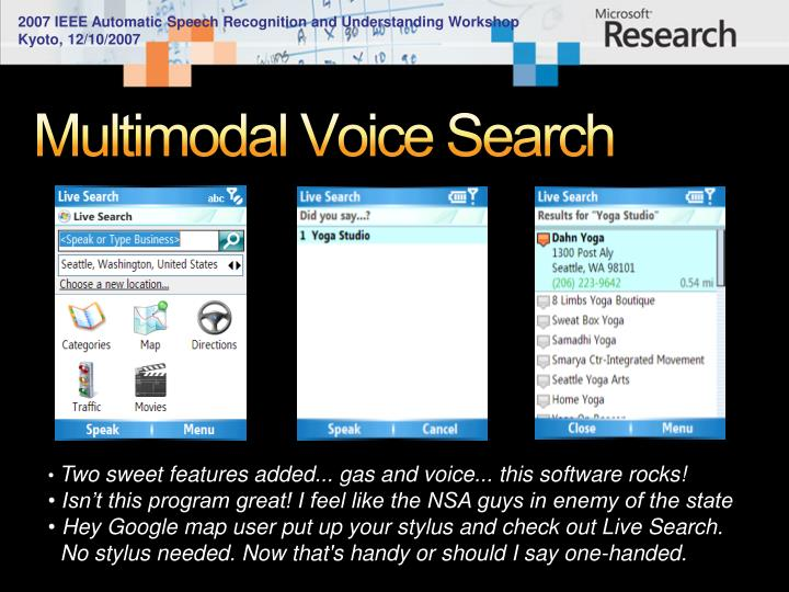 Multimodal Voice Search