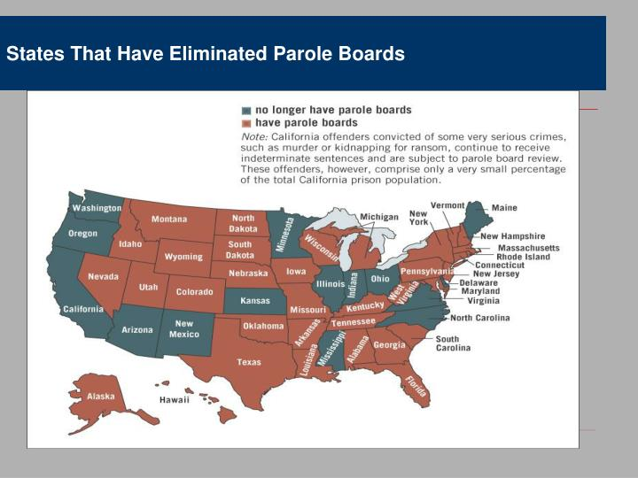 States That Have Eliminated Parole Boards