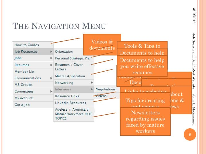 The Navigation Menu