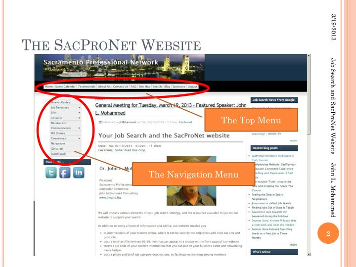 The sacpronet website