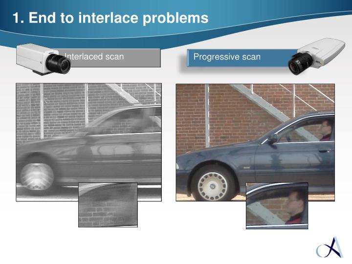 Interlaced scan