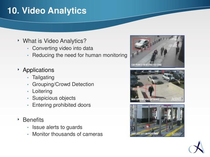 10. Video Analytics
