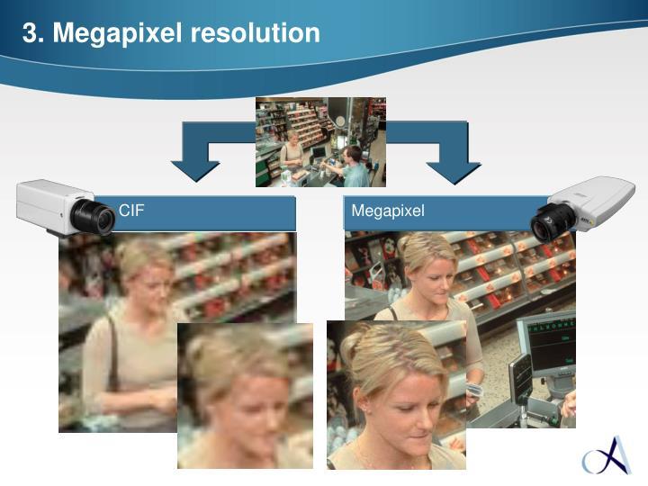 3. Megapixel resolution