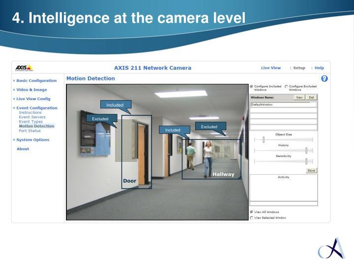4. Intelligence at the camera level