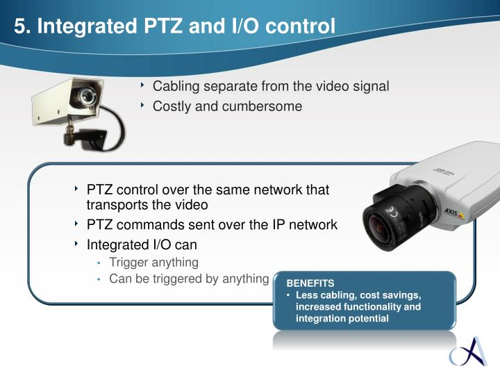 PTZ control over the same network that transports the video
