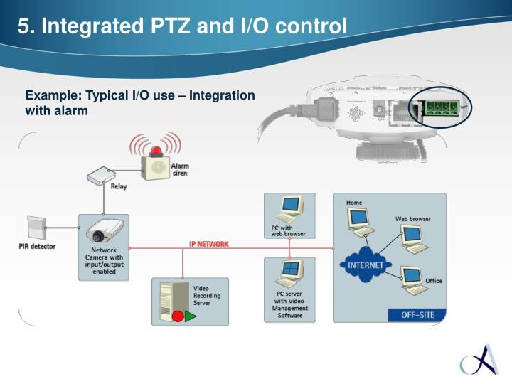 5. Integrated PTZ and I/O control