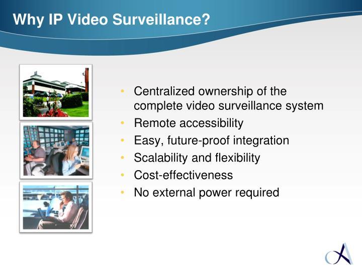 Why IP Video Surveillance?