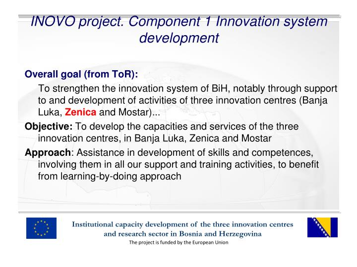 Inovo project component 1 innovation system development