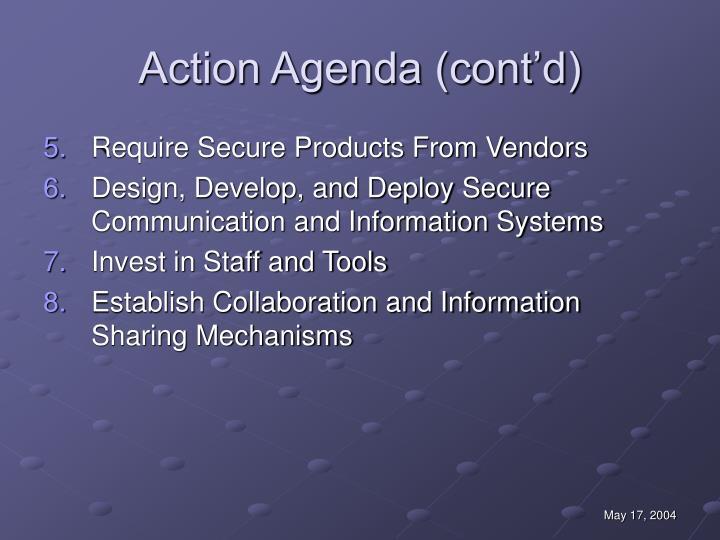 Action Agenda (cont'd)