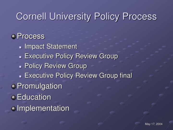 Cornell University Policy Process